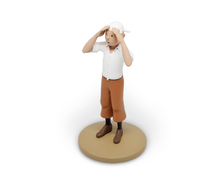 Tintin in the Desert Resin Figurine