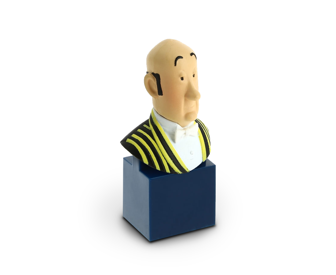 Moulinsart Bust figurine of Nestor. Tintin. Compendium Design Store. AfterPay.
