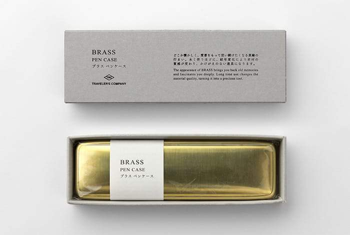 Traveler's Company Japan brass pen case. Traveler's Company Japan. Compendium Design Store. AfterPay, ZipPay accepted.