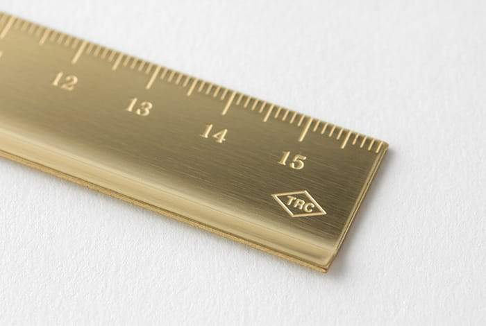 Travelers Company Japan Brass Ruler. Compendium Design Store, Fremantle. AfterPay, ZipPay accepted.