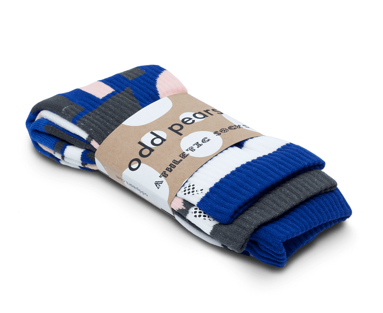 Odd Pears Athletic Socks 'Metric' · 3-Pack