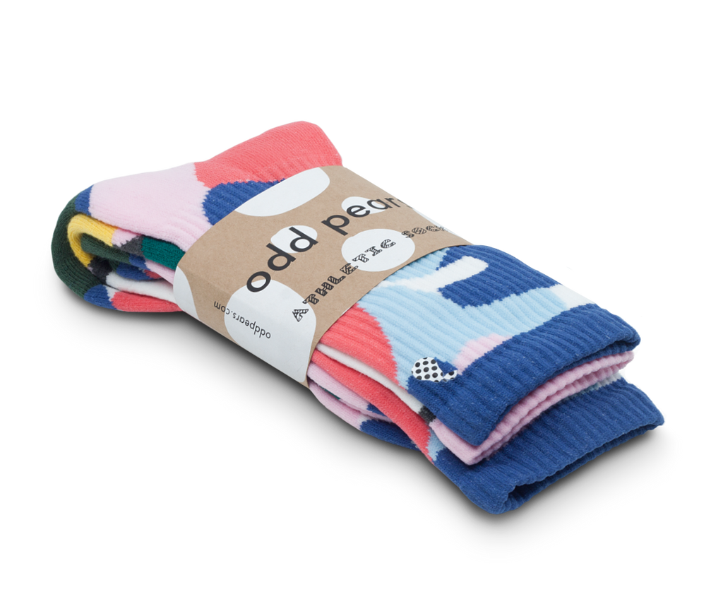 Odd Pears Athletic Socks 'Pebble' · 3-Pack