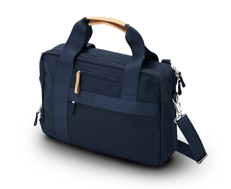 Qwstion Office Bag in Organic Navy