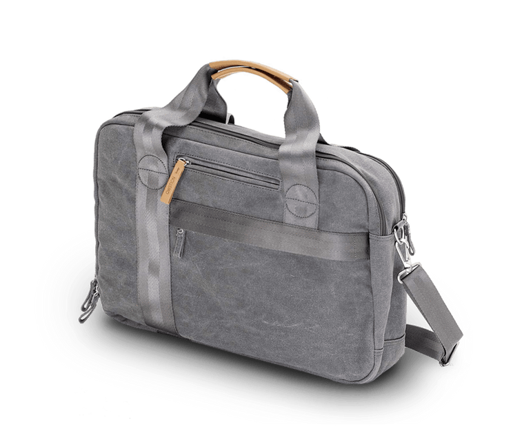 Qwstion Office Bag in Washed Grey