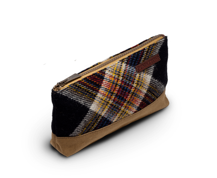 Pendleton Twill Zip Pouch in Arcadia Plaid