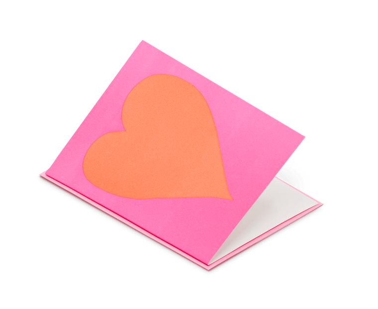Pink Heart Greeting Card