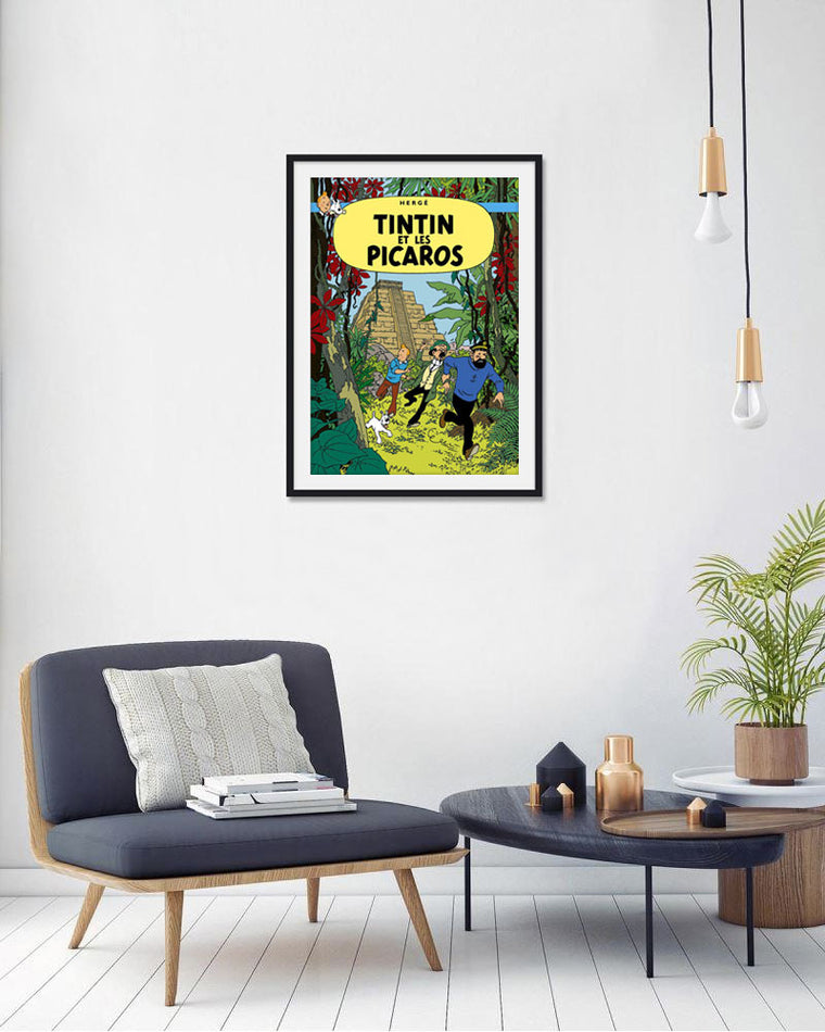 Moulinsart Tintin The Adventures of Tintin: Tintin et Les Picadors Poster in French. 50x70cm