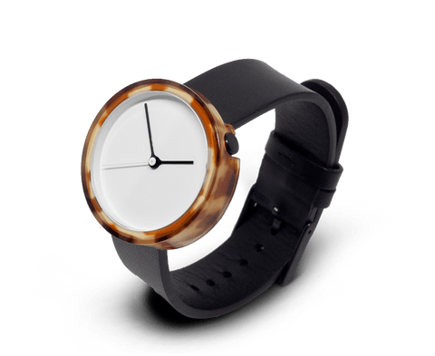 Prism watch in Tortoise by AARK Collective. AARK COLLECTIVE. Compendium Design Store. AfterPay, ZipPay accepted.