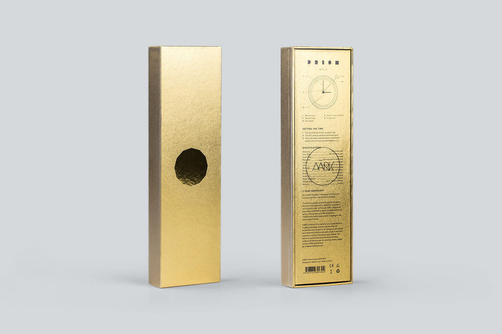 Prism watch in Gold by AARK Collective. AARK COLLECTIVE. Compendium Design Store. AfterPay, ZipPay accepted.
