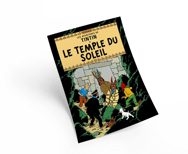The Adventures of Tintin: Le Temple du Soleil Poster in French. 50x70cm