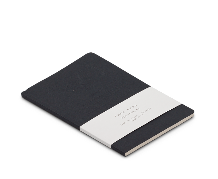 Public Supply Embossed Notebook in Black