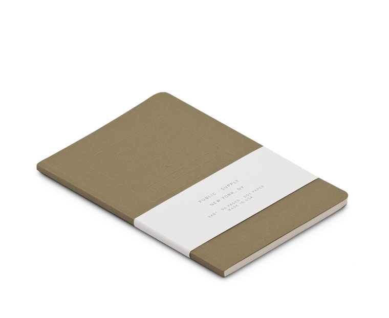 Public Supply Embossed Notebook in Olive