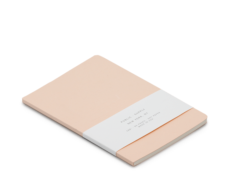 Public Supply Embossed Notebook in Pink