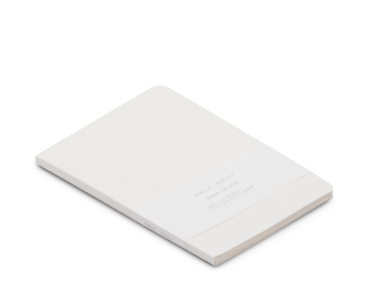 Public Supply Embossed Notebook in White