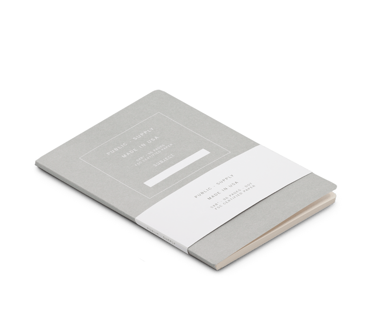 Public Supply Soft Cover Notebook in Light Grey