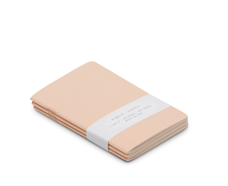 Public Supply Embossed Pocket Notebooks in Pink - 3 Pack