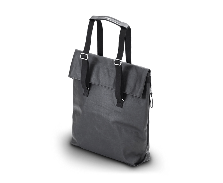 Qwstion Day Tote in Organic Jet Black