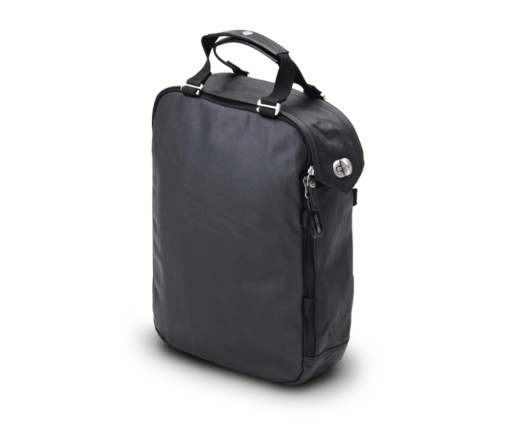 Qwstion Daypack in Organic Jet Black. Qwstion. Compendium Design Store. AfterPay, ZipPay accepted.