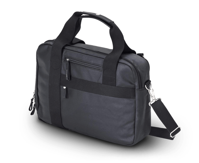 Qwstion Office Bag in Organic Jet Black