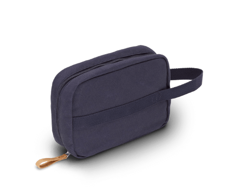 Qwstion Toiletry Kit in Organic Navy. Qwstion. Compendium Design Store. AfterPay, ZipPay accepted.