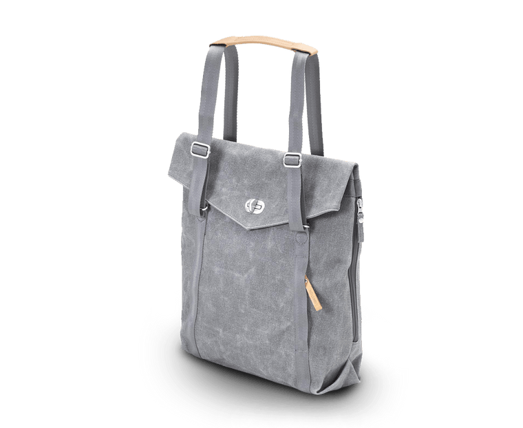 Qwstion Tote Backpack in Washed Grey