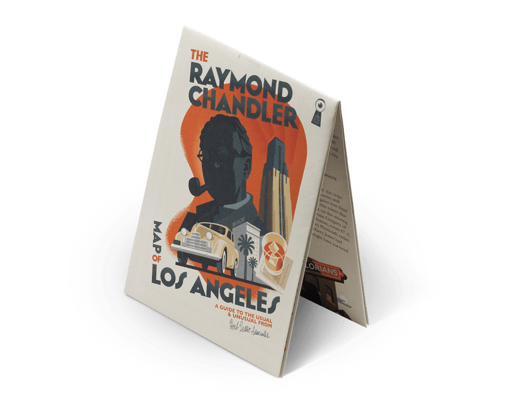 Raymond Chandler's Map to LA. City Guide & Map by Herb Lester