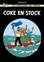 The Adventures of Tintin: Coke en Stock Poster in French. 50x70cm