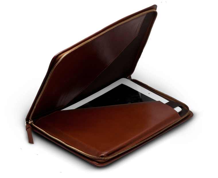Royal Republiq leather iPad Folder in Cognac leather