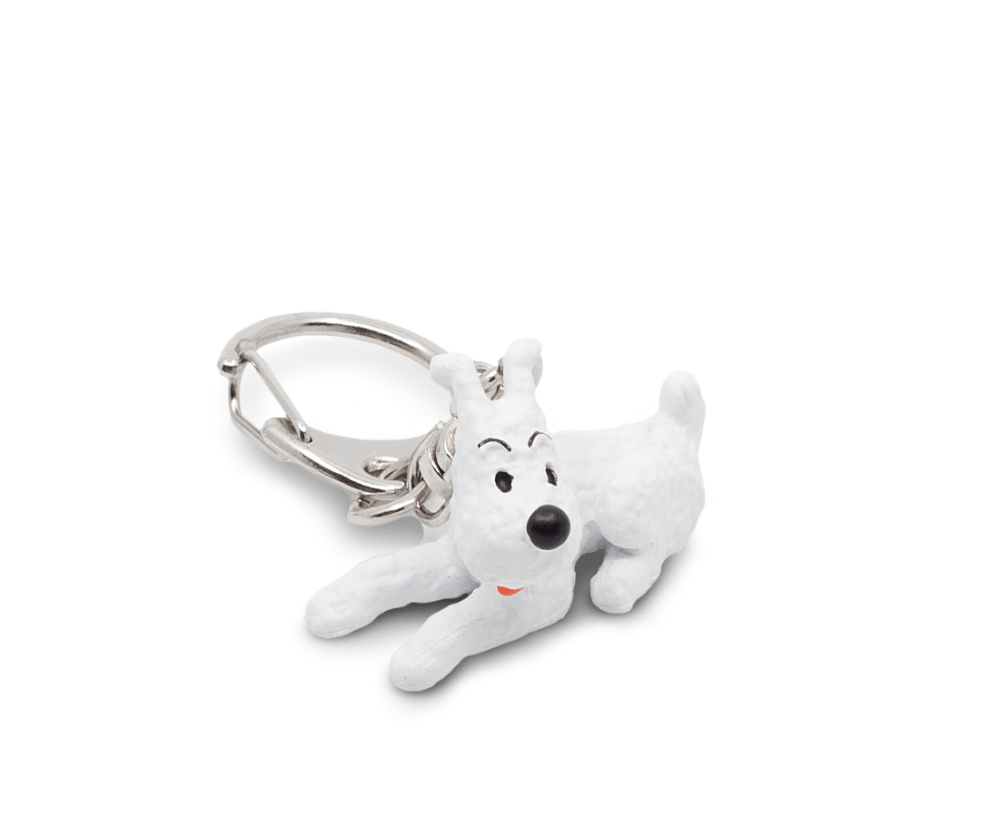Snowy Lying PVC Keyring 3cm. Compendium Design Store, Fremantle. AfterPay, ZipPay accepted.