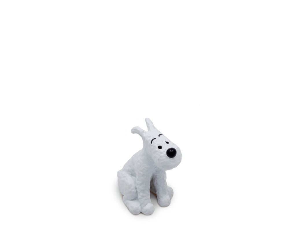 Snowy Sitting PVC Figurine 2.5cm. Compendium Design Store, Fremantle. AfterPay, ZipPay accepted.