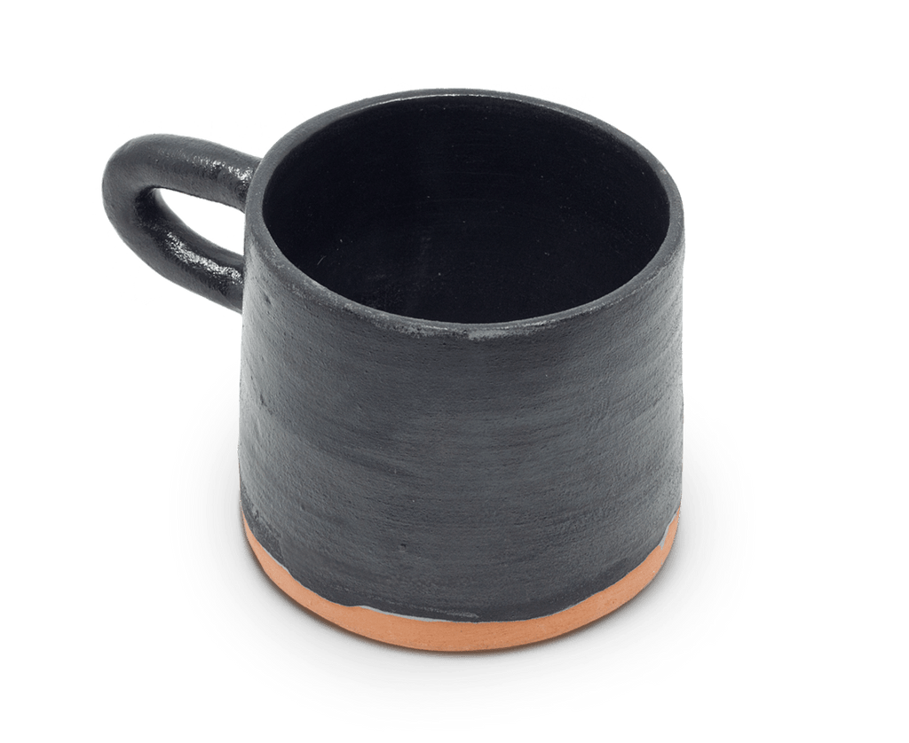 Sole Ceramics Coffee Cup in Black with Black Handle