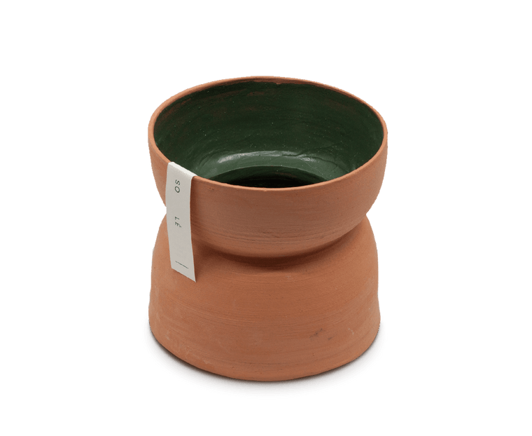 Sole Ceramics Terracotta 'Bubble' Vase Medium (Green)