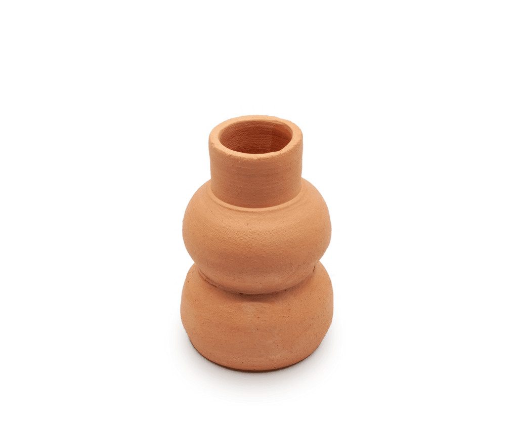 Sole Ceramics Terracotta 'Bulb' Vase Small (Raw)