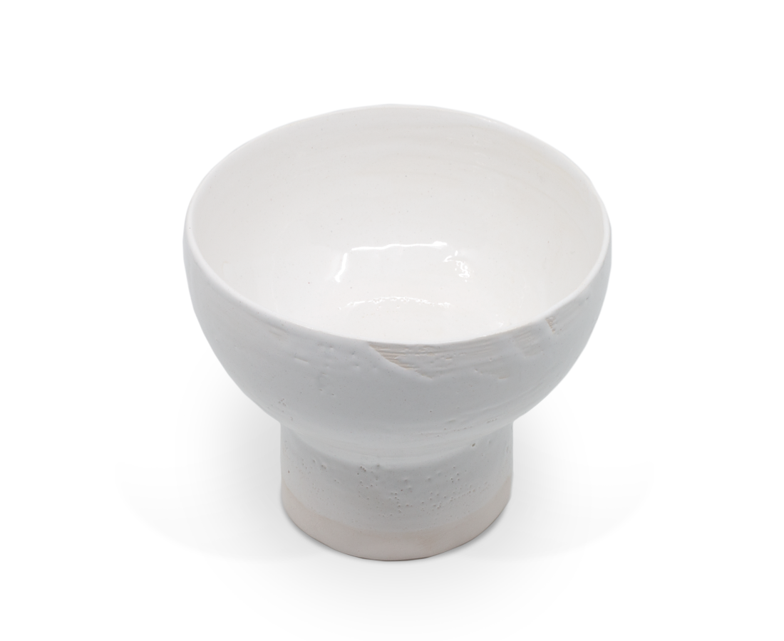 Sole Ceramics Medium Stem Bowl - White