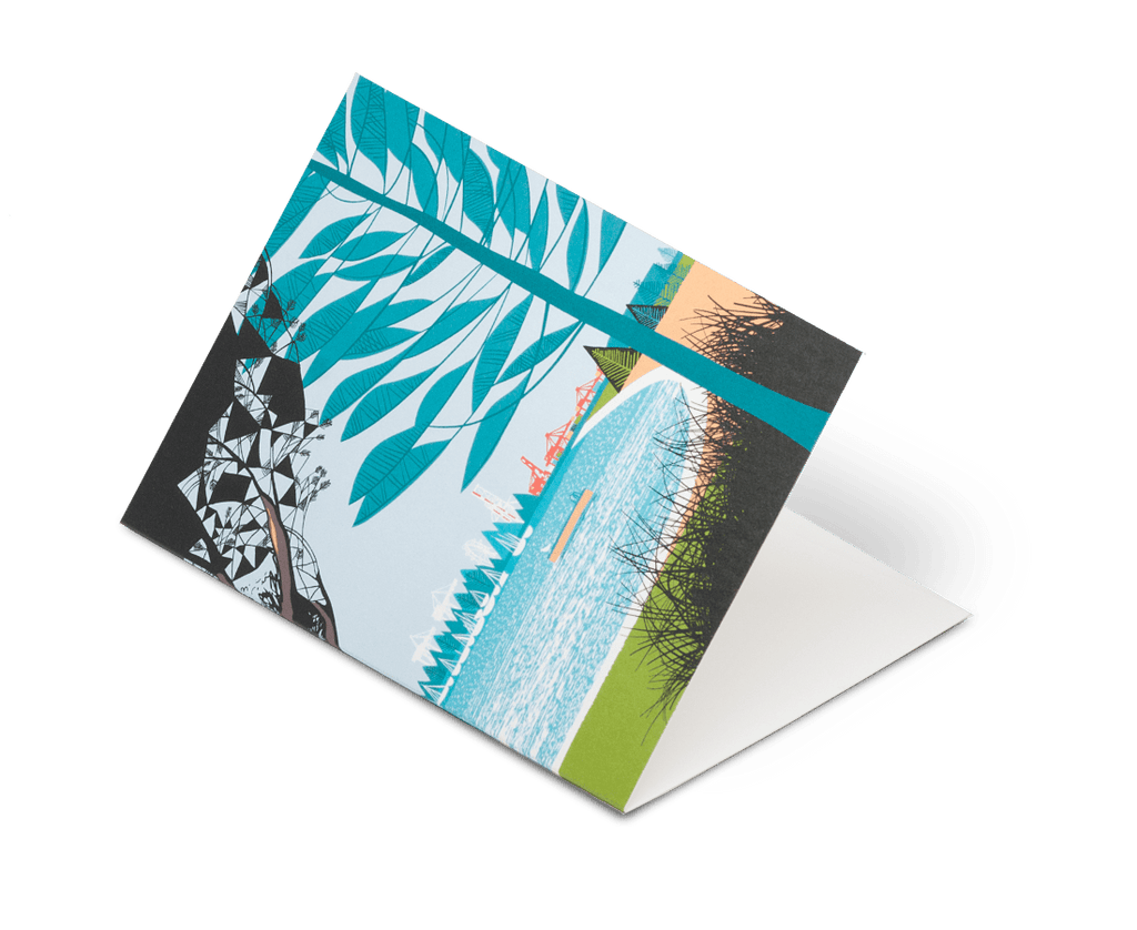 South Beach Fremantle Greeting Card by Future Shelter. Compendium Design Store, Fremantle. AfterPay, ZipPay accepted.