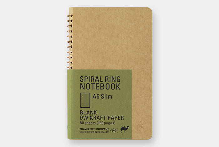 Travelers Company Japan Spiral Ring Notebook A6. Compendium Design Store, Fremantle. AfterPay, ZipPay accepted.