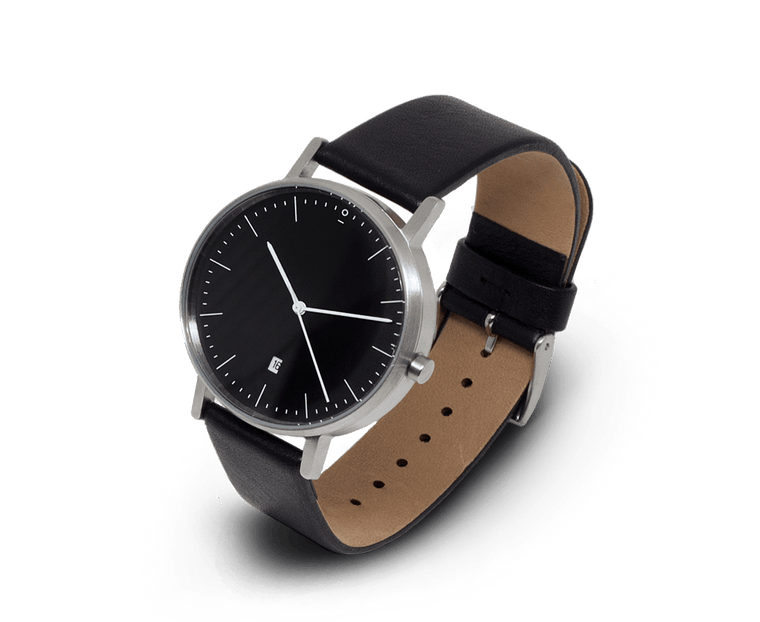 Stock Watches S004K watch in Stainless Steel & Black with Date