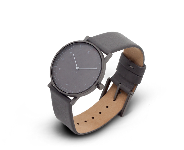 Stock Watches S005GN (Numbers) with Leather Band