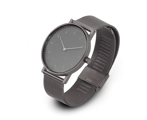 Stock Watches S005GN (Numbers) with Gunmetal Milanese Steel Mesh Strap