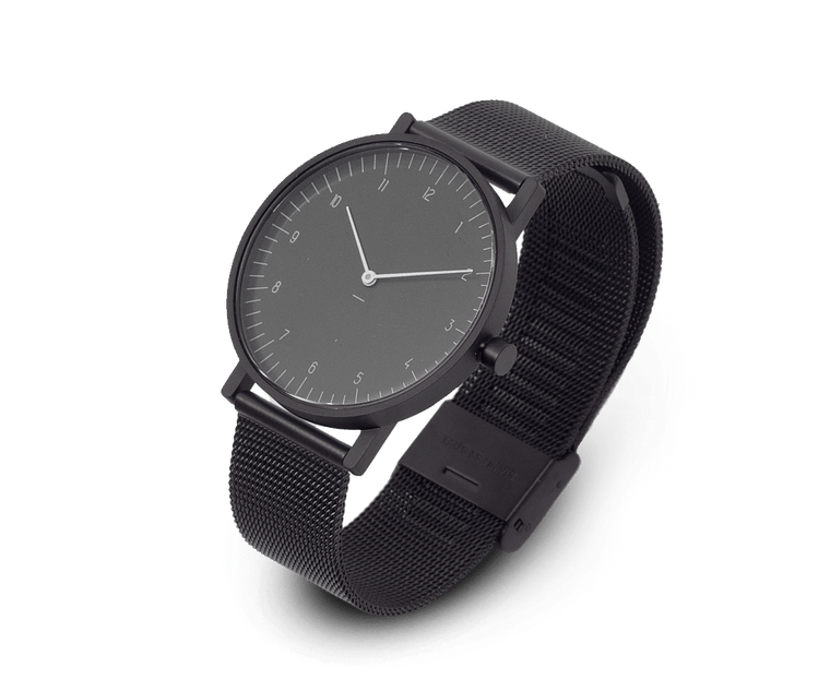 Stock Watches S005KN (Numbers) with Black Milanese Steel Mesh Strap