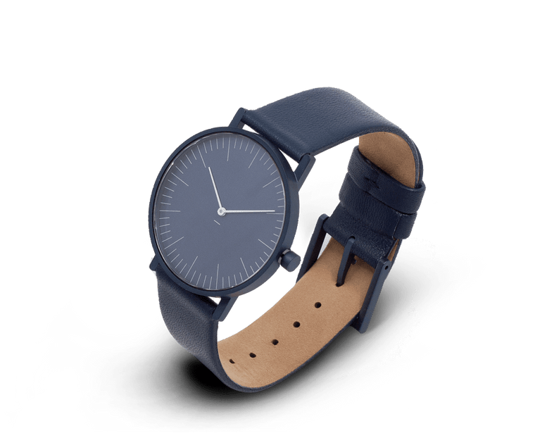 Stock Watches S005B (Lines) with Leather Band