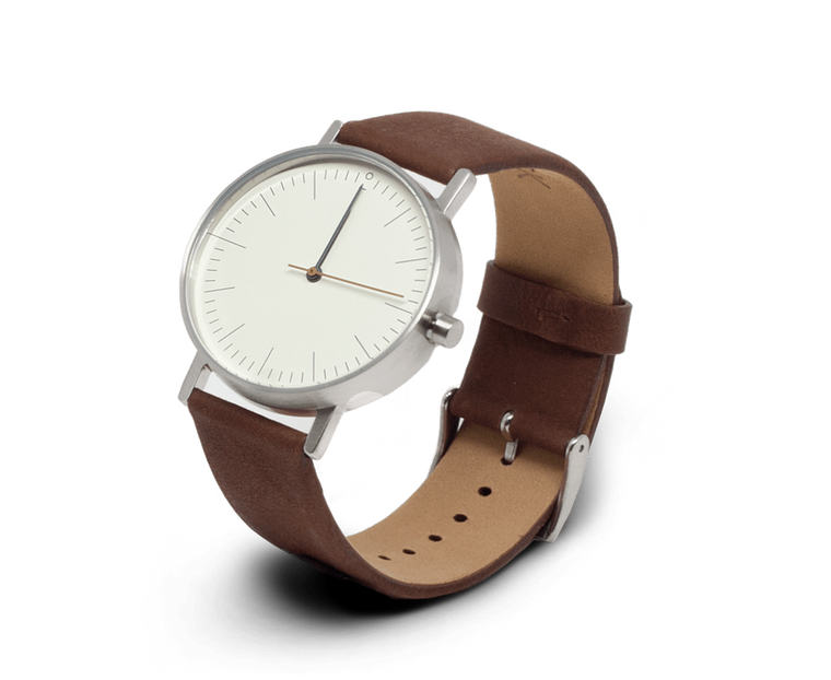 Stock Watches S001B watch in Stainless Steel & Brown