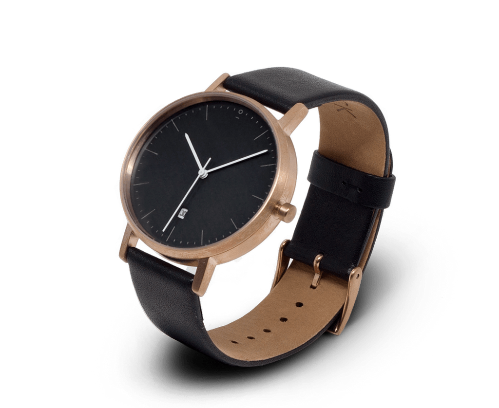 Stock Watches Watches Stock Watches S004R watch in Rose Gold, Black & Black watch with Date