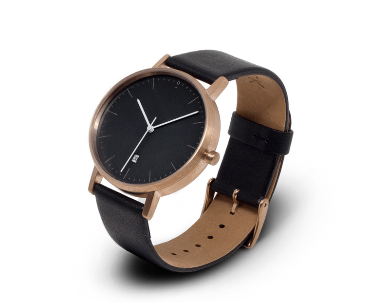 Stock Watches S004R watch in Rose Gold, Black & Black watch with Date