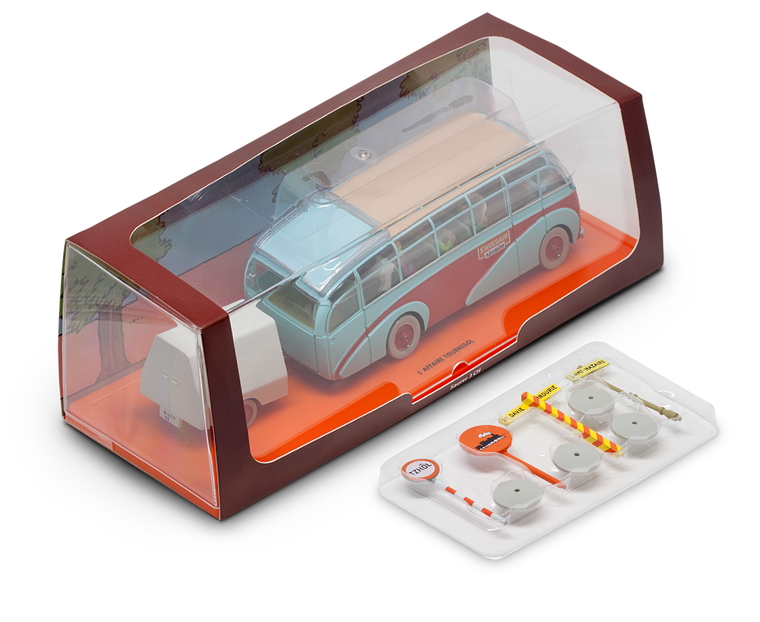 Tintin Swissair Buss Boxed Car Collectable from The Calculus Affair