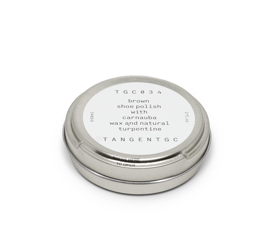 Tangent GC Brown shoe polish 60ml. TANGENT GC. Compendium Design Store. AfterPay, ZipPay accepted.