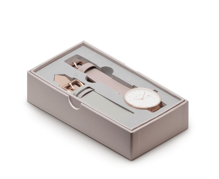 D4 The Horse D Series Watch Set in Rose Gold, Blush and Grey
