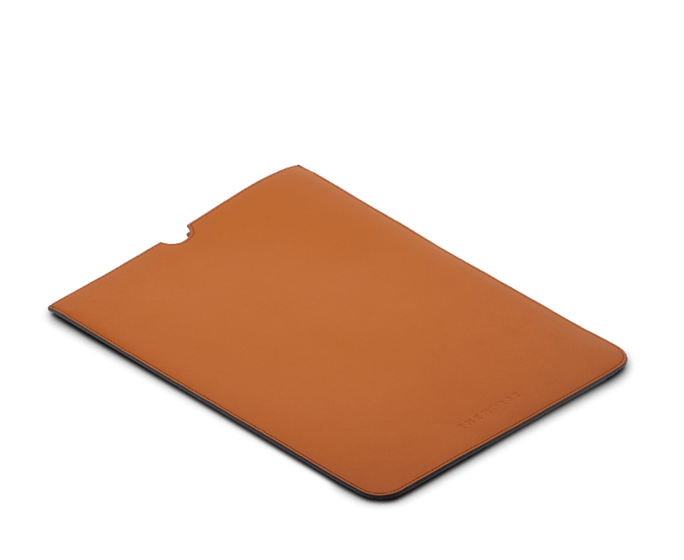 The Horse Leather 13 inch Laptop Sleeve in Tan