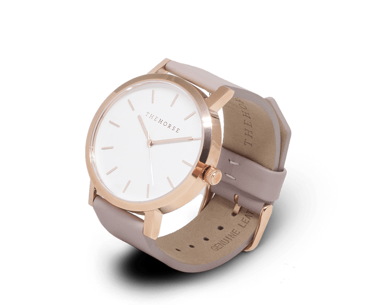 A14 The Horse Original watch in Polished Gold and White with Blush