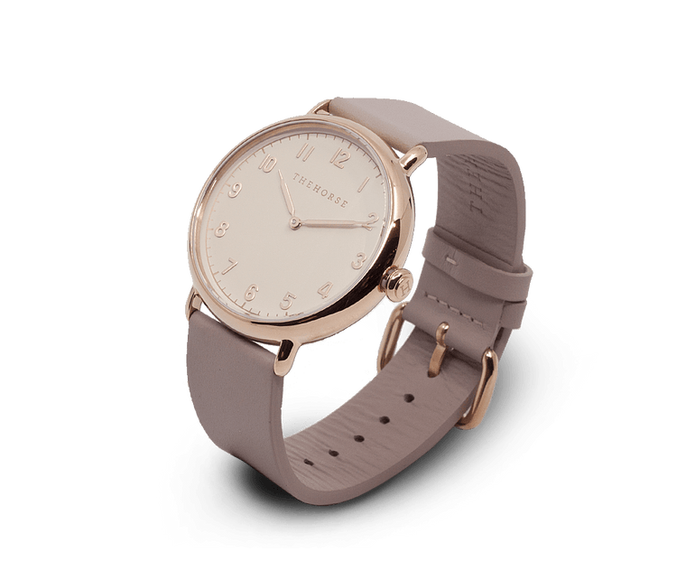 The Heritage by The Horse in Polished Rose Gold Case, Blush Dial, Blush Band (H7)